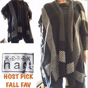 Keren Hart Poncho Sweater With Open Sides size L